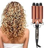 Rizador de pelo de 3 barriles, varilla rizadora de ondulación de pelo...