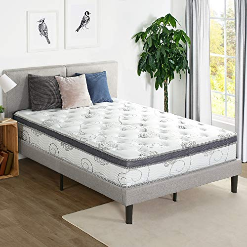 Olee Sleep Bed Mattress Conventional, Queen, White/Grey