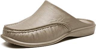 Yusea - Pantofole da uomo, comode, senza schienale, traspiranti, antiscivolo, per l'estate all'aperto