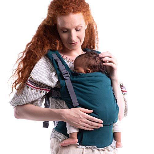 : Boba X - Portabebés, mochila adaptable, microajustable, estructurada suave para bebés de 3-20 kg Atlántico Orgánico