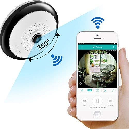 ZRHUNTER 360 Degree Home Security Camera Panoramic WiFi ...