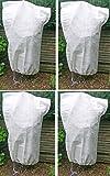 Lot de 4 Sacs de protection pour plantes en hiver - Housse d'hivernage non tissée - Dimensions 110 x 150 cm