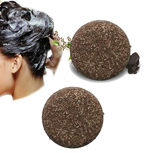 Natural Organic Grey Reverse Shampoo Bar, Essence Hair Darkening Shampoo Soap for Repair Damaged Hair, moisturize Hair(2pcs)