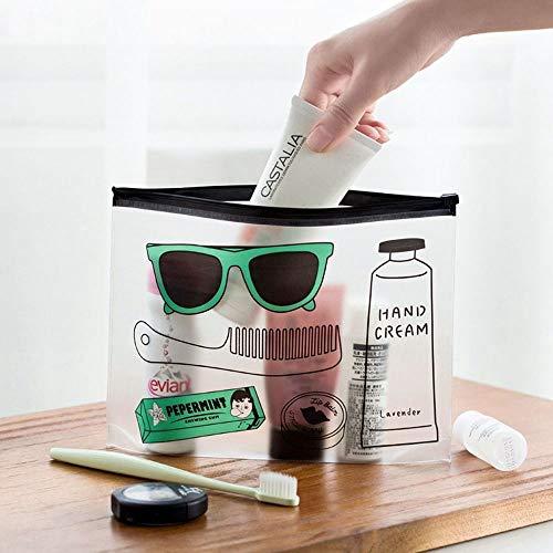 Trousse de toilette en PVC transparent avec motif dessin animé