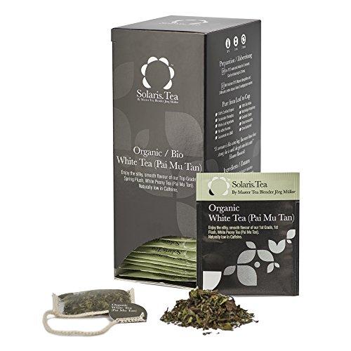 Solaris Tea Bio - Weißtee (Pai Mu Tan), 40 Seidenteebeutel, 1er Pack (1 x 60 g)