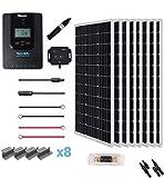 Renogy 800 Watt 24V Premium Bluetooth Module Fuse+Mounting Z Brackets+Adaptor Kit+Tray Cables Set, 800W 40A MPPT, Off-Grid Solar...
