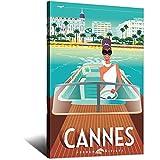 ASFGH Cannes Riva Vintage-Reise-Poster, Dekor, Malerei,