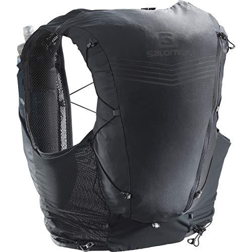 SALOMON Advanced Skin 12 Set Unisex Trail Running Vest Backpack, Ebony, X-Small