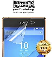واقي شاشة واقٍ غير مرئي (HD) من REarth (عبوة من 4 قطع) لهاتف Sony Xperia Z3 Plus / Z4