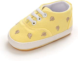 Toddler Shoes Boys and Girls Anti-Slip Fashion Canvas Sneakers Lightweight First Walkers Shoes