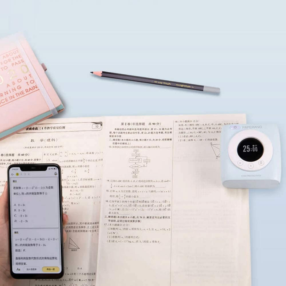 Versi/ón Global PAPERANG P2S Mini Impresora t/érmica Bluetooth 4.0 Inal/ámbrica Compatible con Android iOS