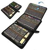Matite Colorate Professionali, Set da 96 pezzi di matite da disegno e per schizzi in un astuccio con zip, Kit Arte per Schizzo e Disegno con Matite Grafite e Carboncino per Principianti Bambini Adulti