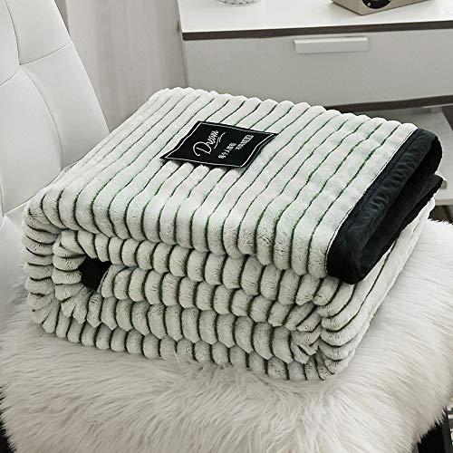Stillshine. Schneeflocke Kuscheldecke Flauschige Decke Wohn Tagesdecke Wohndecke Couch-Decke Reisedecke Heimdecke Exquisiter Komfort Bettsofa Haustierdecke (70X100CM,Grün)
