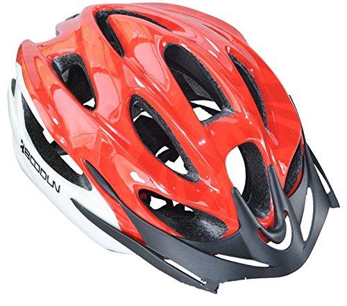 SHINA L'arrivée de Nouveaux boodun Rouge Bleu Noir Cyclisme Hommes & Femmes Casque EPS Ultraléger VTT Vélo Montagne Casque Confortable Casque de Protection Taille Unique (Rouge)