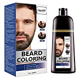 Coloration de La Barbe, Beard Coloring, Darkening Beard Wash, Barba & Moustache, Shampooing Cheveux Noirs(200ml)