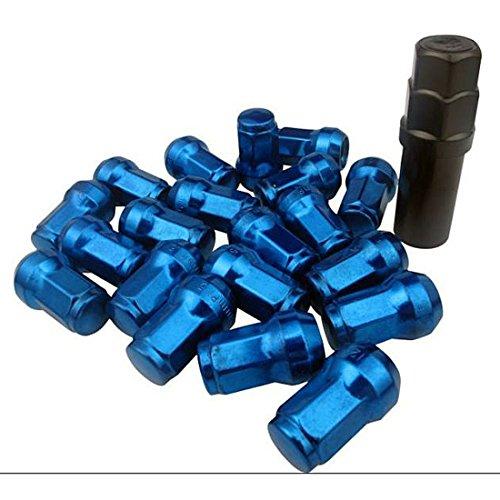 来慶(ライケイ)ホイールロックナット20個エアバルブ4個セットM12P1.254穴5穴(ブルー)適合車種日産スバルスズキ盗難防止ドレスアップチューニング峠(青,M12×P1.25)