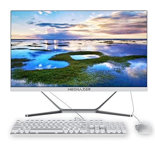 MECHAZER Z1 PC 23,8 Zoll All in One PC Desktop Computer Intel Core i5-3340M (bis zu 3,4 GHz)Windows10 Pro,8GB DDR3,256GB M.2 SSD,Dual-band WiFi Bluetooth (Kostenlose QWERTZ-Tastatur und -Maus)