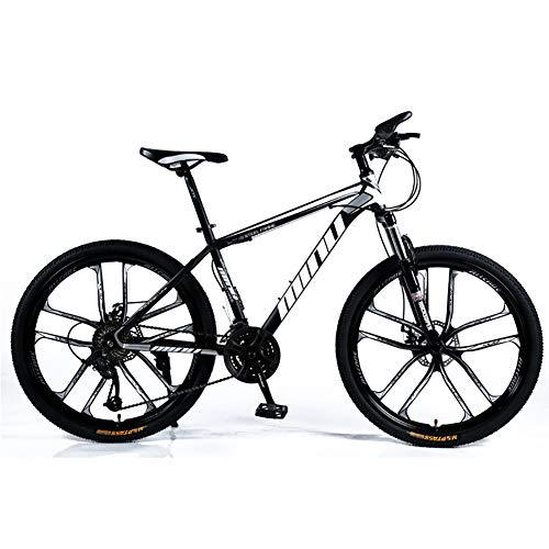 WSZGR Mountain Bicycle Forks,Full Suspension Mountain Bikes Man,Racing Bike Bicycles for Women,26 Inch Racing Adult Mountain Bike Black 26',21-Speed