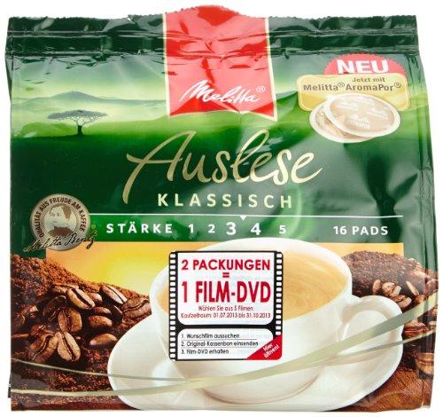 Melitta Café Auslese Pads klassisch 16 Stück, 5er Pack (5 x 112 g)