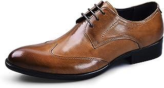 [Asier] アシアー ビジネスシューズ 紳士靴 外羽根 ストレートチップ ウイングチップ メンズ 本革 革靴 ブラック/ワインレッド/ブラウン 23.5cm-28cm
