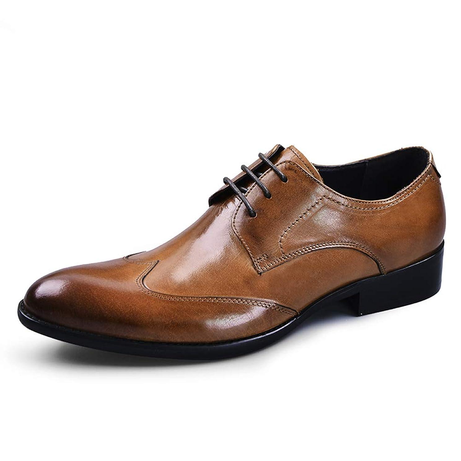 持ってるパッドせっかち[アシアー] Asier ビジネスシューズ 紳士靴 外羽根 ストレートチップ ウイングチップ メンズ 本革 革靴 ASI-103 ブラック/ワインレッド/ブラウン 23.5cm-28cm