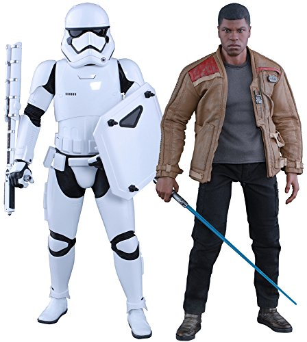Star Wars The Force Awakens Finn and First Order Riot Control Stormtrooper 1/6 Collectible Figure (Hot Toys) -  HT902626