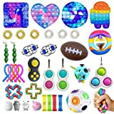 HWGING 37 pcs Sensory Fidget Toys Fidget Toys, Cheap Fidget Toys Pack, Cheap Fidget Toys for Adults, Sensory Toys Pack Squeezing Anti-Stress Toys Decompression Toys for Kids and Adults