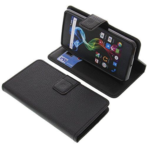 foto-kontor Tasche für Archos 45d Platinum Book Style schwarz Schutz Hülle Buch