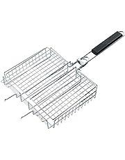 RoseFlower Antiadherente BBQ Net Barbecue Mesh Parrilla de Acero Inoxidable Net para Pescar Carne Verduras para BBQ Oven