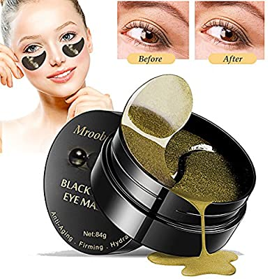 Under Eye Mask, Collagen Eye Mask, Black Pearl Eye Masks, Anti Aging Eye Patches, For Brightens & Reducing Wrinkles, Dark Circles, Eye Bags and Puffiness - 30 Pairs