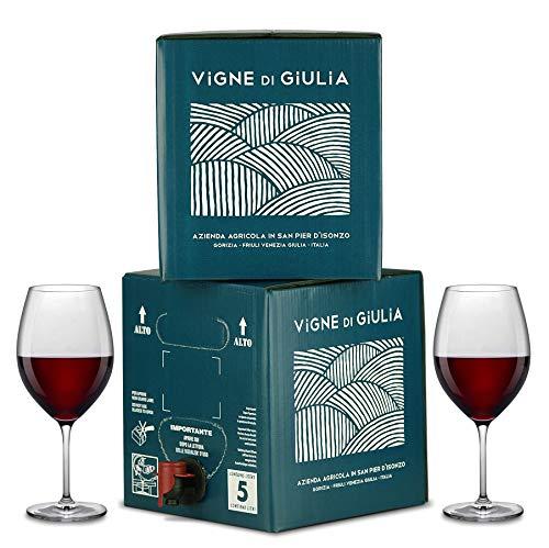 Bag in Box vino Cabernet 5L + Bag in Box Merlot 5L - Vigne di Giulia