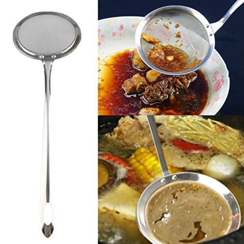 SHTSH Sht Utensilios de Cocina y novedades de Acero Inoxidable de Malla Skimmer Vegetal residuo de Aceite de Malla colador Colador