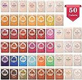 DEWEL Pigmenti in Polvere 5g*50 Colori Mica Powder per Slime, Resina Epossidica, Candele, Acquerello, Cosmetici