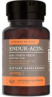 Endur-acin - 500mg Extended Release for Optimal Absorption & Low-Flush Niacin (Vitamin B-3), 200 Tablets - ...