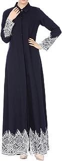 فستان سترة حريمي بأكمام طويلة من الدانتيل مع دانتيل مزخرف بالدانتيل من الدانتيل، فستان طويل كيمونو وعبايا قفطان