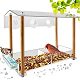 Bird Feeder, Strong Large Size with Suction Cups & Seed Tray, Separate...