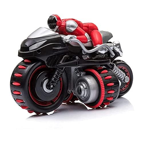 GRTVF Rc Motocicleta, truco a la deriva de los niños Spinning Control Remoto Carro Motocicleta Control remoto eléctrico Futuro Rider Coche Coche de juguete, regalo for niños Muchacho y niña