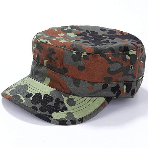 Jbwlkj Tactical Airsoft Camouflage Cap Herren Soldaten Combat Army Baseball Cap Unisex Paintball Flat Hats-Flecktarn Camo 1_59Cm