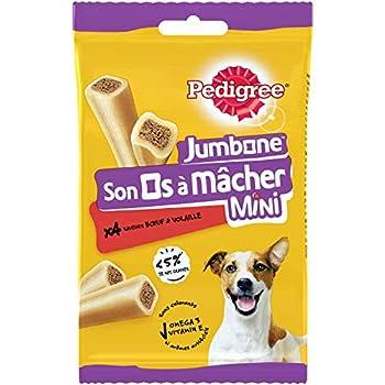 PEDIGREE Son Os à Mâcher Mini - Récompenses pour petit chien, 32 friandises (8 sachets de 4 os de 160g)