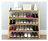 Apilable blanco zapatero del organizador del almacenaje de 4 niveles del banco trasero for Pasillo Dormitorio pequeño y sencillo de madera del zapato estante de múltiples funciones del hogar a prueba