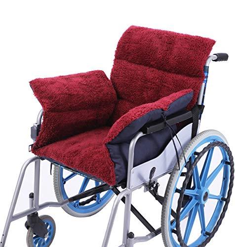 Rollstuhlkissen Rollstuhlkissen mit Rücken- und Seitenteil, Ouding Komfortkissen Sitzkissen für Rollstuhl Bürostuhl Esszimmerstühle Sofa Gartenbank, Anti-Dekubitus