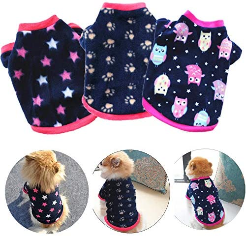 Yikeyo Set of 3 Dog Clothes for Small Dogs Girl Chihuahua Clothes Girl Puppy Clothes Puppy Sweaters product image
