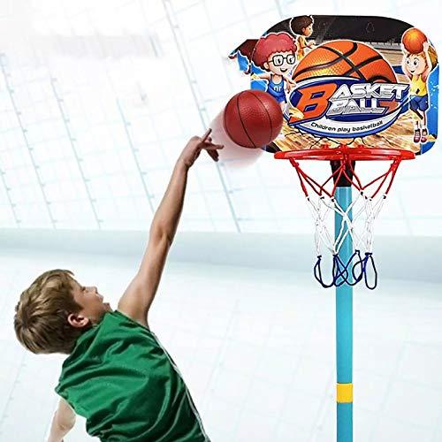 ZYMQ Kinder anhebelbare Basketball-Ständer Abnehmbare Basketball-Reifen Einstellbare Höhe Robuste Basketball-Reifenständer Indoor Ball-Spiele