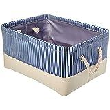 Panier de Rangement, boîte d'organisateur Pliable avec poignées en Coton pour vêtements Magazines pour Animaux de Compagnie Jouets Deux Couleurs 40 * 30cm