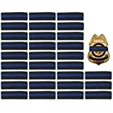 30 Pack Thin Blue Line Police Mourning Band Stripe Police Officer Badge Shield Funeral Honor Guard Straps, 1/2'