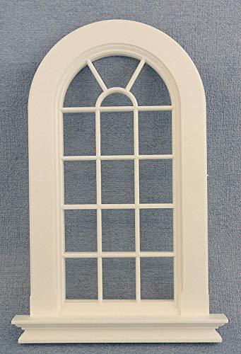 Melody Jane Puppenhaus Kunststoff Weiß Georgischer Hoch Gewölbt Fenster 16 Scheibe 1:12 DIY Builders