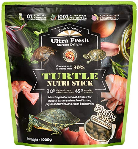 Ultra Fresh - Turtle Nutri Stick, Calcium & Vitamin D-Enriched Aquatic Turtle Food, 100% Natural with Raw Ingredients & Zero Preservatives - Wild Sword (35.27oz)