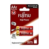 Fujitsu High Power AA Alkaline Battery LR6, 1.5 Volts, Double A, Pack of 2 (Long Lasting Batteries for high Drain Devices, 2 Count)