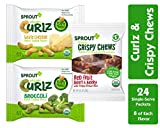 Sprout Organic Curlz & Crispy Chews Toddler Snacks, Variety Pack, Single Serve Packs 0.25 Ounce (24...