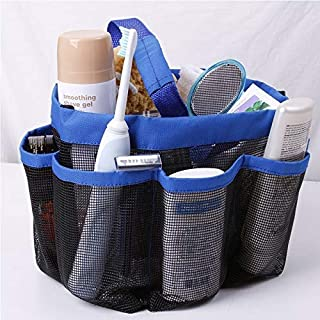 DORLIONA Storage Bags - Portable Mesh Bathroom Storage Oxford Wash Bag Eight Grid Bath Bags - Lansinoh Nuk Xl Slider Wheel...
